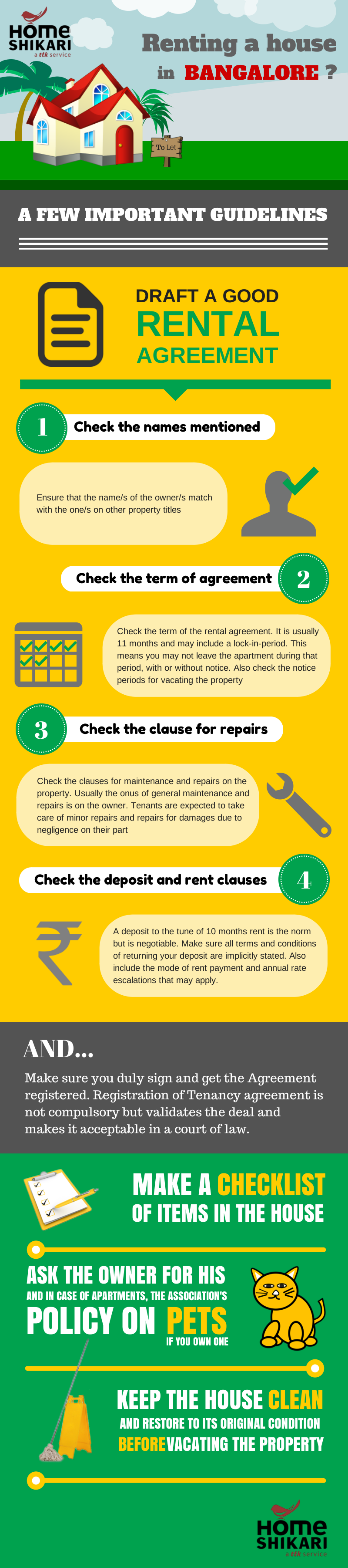 Renting tips Infographic